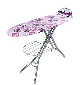 Orbegozo TP 3500 - Mesa de planchar con bandeja porta ropas, 122 x 38 cm, rejilla de acero