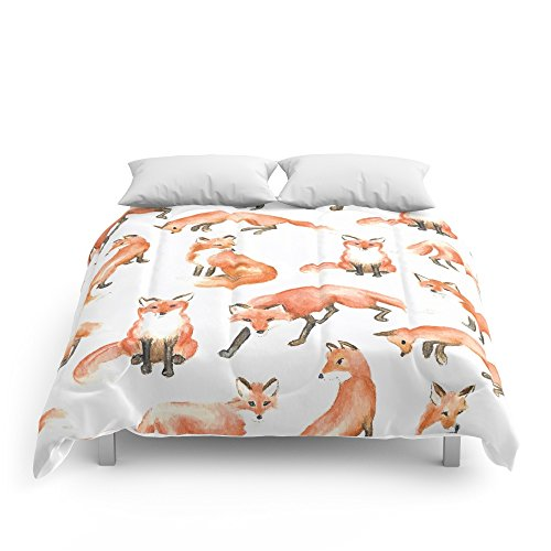 Society6 Fox Pillow Comforters Queen: 88'' x 88'' by Society6