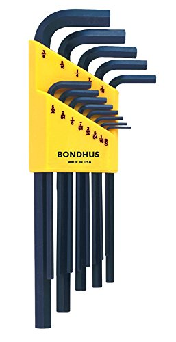 (Bondhus 12137 Set of 13 Hex L-wrenches, Long Length, sizes .050-3/8-Inch)