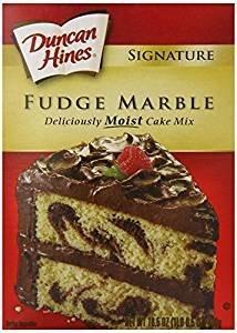 Duncan Hines Signature Fudge Marble Cake Mix 16.5 Oz. Pack Of 3. (Mix Hines Cake Caramel Duncan)