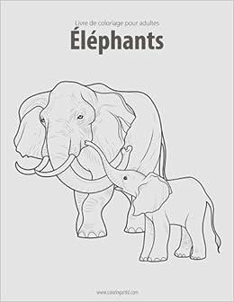 Coloriage Elephant Pour Adulte.Livre De Coloriage Pour Adultes Elephants 1 Amazon Fr Nick Snels