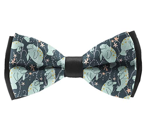 Adjustable Length Men's Polyester Bow Ties, Pre-Tied Fashion Gentlemen Butterfly Bow Tie For Party Chrismas Date, Boys Kids Children Teens Gift (Manatee Animals) ()