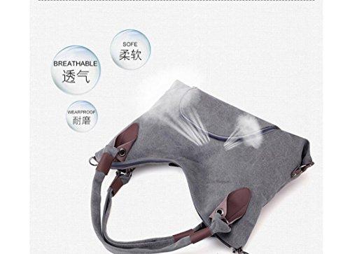 Gran Bolsa Meaeo Bolso Ocio Bolso De Capacidad Hot Llevar Bag Crossbody Hombro Lona Solo De De New La qHqxwCZf