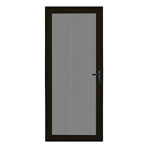Titan 36x80 Meshtec Ultimate Security Screen Door | Aluminum Full View with Meshtec Advanced Screen System | Surface Mount | 3pt lock system & high tensile-strength stainless steel mesh screen, Bronze