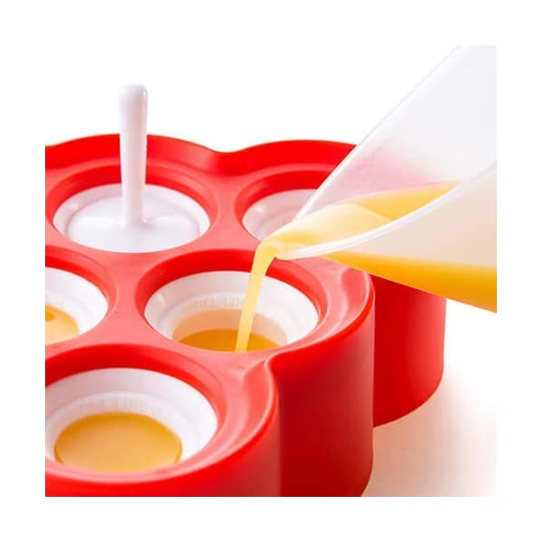 Zoku Slow Pops - stampi in silicone per ghiaccioli facili da rimuovere con protezioni antigoccia 4 spesavip