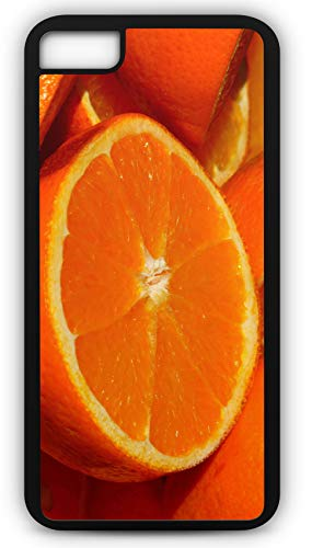 iPhone 8 Plus 8+ Case Orange Fruit Vitamins Vitamin C Citrus Fruits Florida Navel Customizable by TYD Designs in Black Rubber