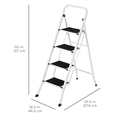 4 Step Ladder Steel Stool 300lb Heavy Duty Lightweight Portable Folding by Unknown (Image #4)