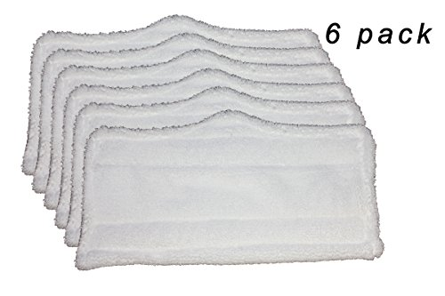 6 pc Microfiber Pads (XT3101) for Shark Steam Mop S3101, S3250, S3202 by AI-Vacuum
