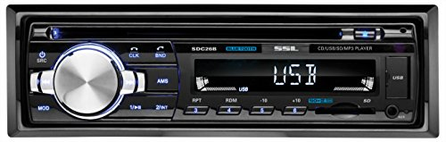 Sound Storm SDC26B Car Stereo CD Player  Single Din, Bluetooth Audio and Hands-Free Calling, MP3 Player, CD, USB Port, AUX Input, AM/FM Radio Receiver