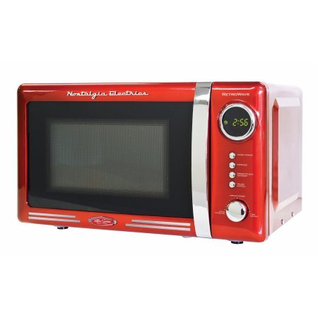 Nostalgia RMO770RED Retro Series 0.7 cu. ft. 700W Microwave Oven / Color: Red generic