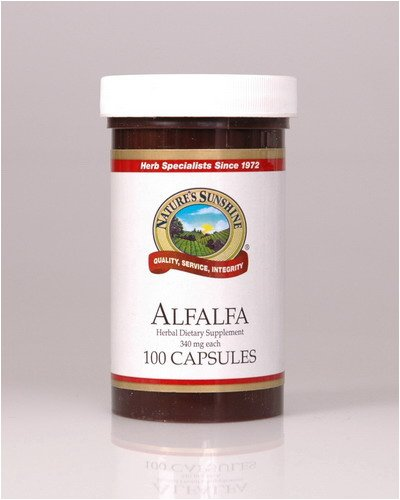 Naturessunshine Alfalfa Dietary Food Supplements 100 Capsules (Pack of 12)