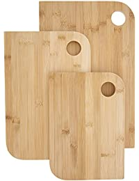 Get 3 Set - Wooden Cutting Board - Premium Bamboo Wood Cutting Boards - 3 Piece - Large 9 x 14 x .5 inches cheapest