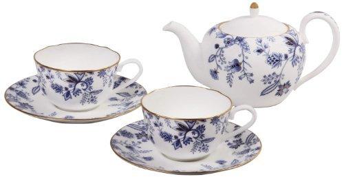 Noritake Sorrentino Tea, Blue, Set of 2 by (Noritake Tea Set)