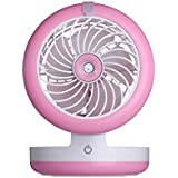MDRW-Usb Spray Air Conditioning Refrigeration Charging Mini Fan Bed Student Dormitory Portable Humidifier Silent FanPink
