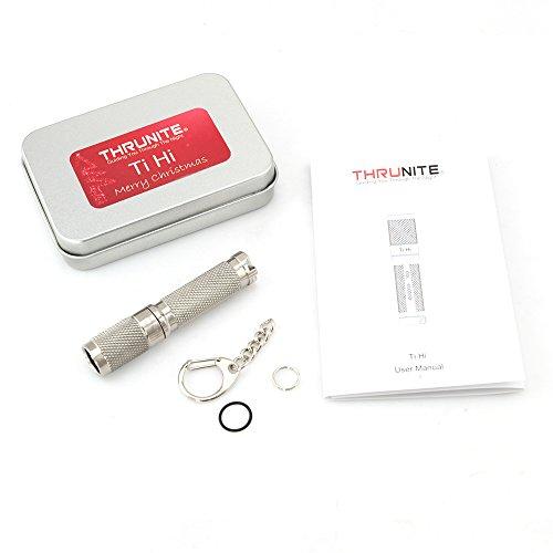 ThruNite Ti HI Flashlight, CREE XP-L HI LED, Max output 120 lumens, Using 1*AAA, IPX-8 Waterproof (Ti HI CW)