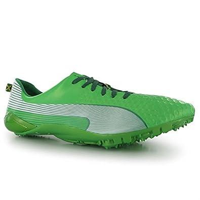 Running Shoes Mens Puma Green White Usain Bolt Faas Ltd Running Spikes Mens