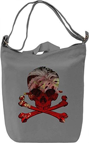 Red Skull Borsa Giornaliera Canvas Canvas Day Bag| 100% Premium Cotton Canvas| DTG Printing|