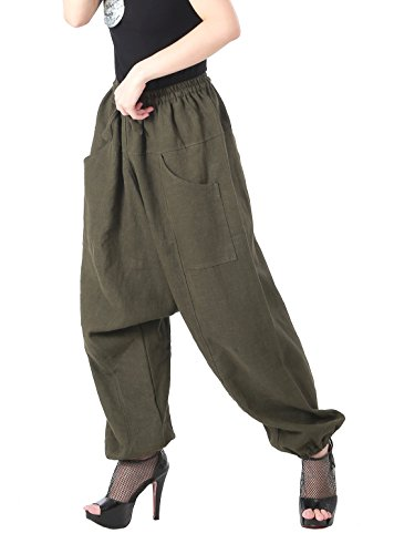 CandyHusky-100-Hemp-Unisex-Baggy-Hippie-Boho-Drop-Crotch-Harem-Pants