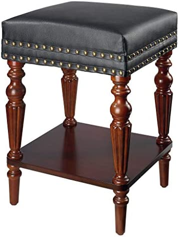 Design Toscano Sheraton Neoclassical Bench Collection Stool, Cherry