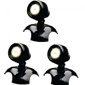 AquaForte Estanque y Jardín LED Lámpara HP6–3, 3x 6W, 12V, Color Negro