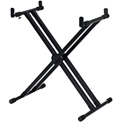 yamaha yka7500 professional double x style keyboard stand with sustain pedal and. Black Bedroom Furniture Sets. Home Design Ideas