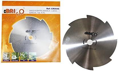 Bricoferr CR0045 Disco cuchilla de 8 puntas para desbrozadora ...