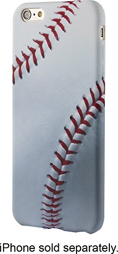 Dynex Case for Apple iPhone 6+ Plus and 6s+ Plus Baseball -White Red Back Cover MLB Softball Sport Design