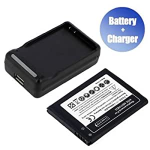 Battpit™ New Replacement Mobile / SmartPhone / Cell Phone Battery + Charger (With USB Output) for HTC Marvel (1500 mAh) (Ship From Canada)