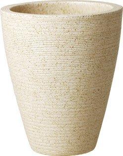 プラスガーデン 植木鉢カバー ネストロング6号用 Φ250×H290mm 底穴なし アイボリー 信楽焼 404-03 B00D5P2RNA
