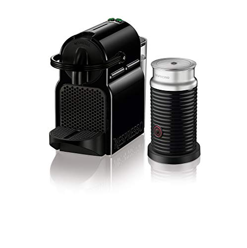 (Nespresso Inissia Espresso Machine by DeLonghi with Aeroccino, Black (Renewed))