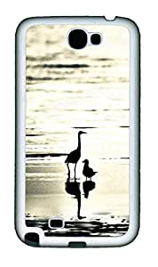 Samsung Note 2 Case Large and small beach bird TPU Custom Samsung Note 2 Case Cover White