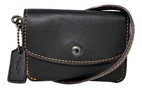 COACH Women's Card Pouch with Metallic Interior Dk/Black One Size