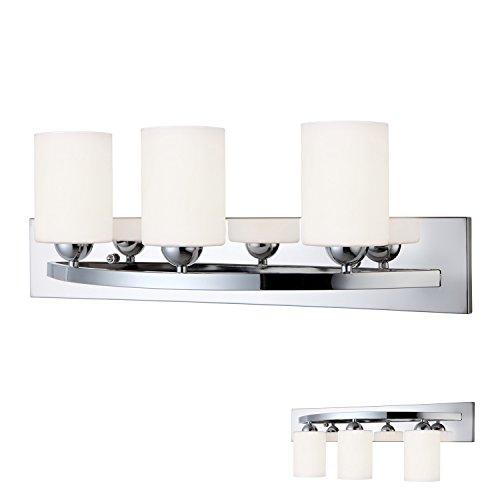 Bar Light Fixtures: Chrome 3 Bulb Bath Vanity Light Bar Fixture Interior