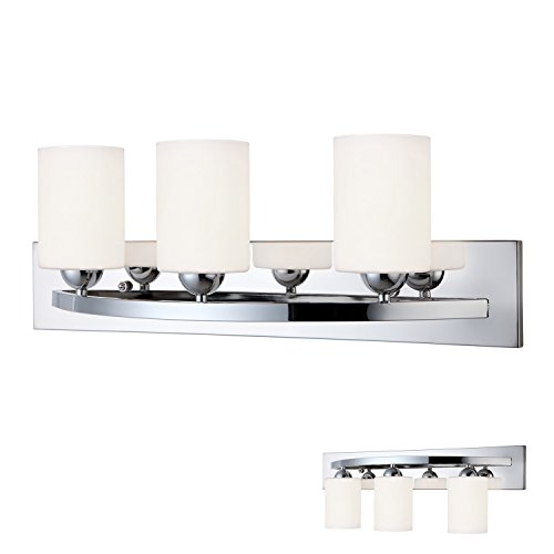Chrome 3 Bulb Bath Vanity Light Bar Fixture Interior Lighting - Chrome Vanity Bar