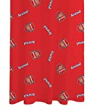 Zap Arsenal Red Crest Curtains, Pair, 66 x 72 Inch