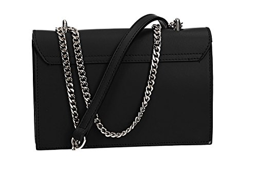 black in CARDIN Bag crossbody Italy leather woman VN2610 PIERRE in Made clutch wXqF7qU