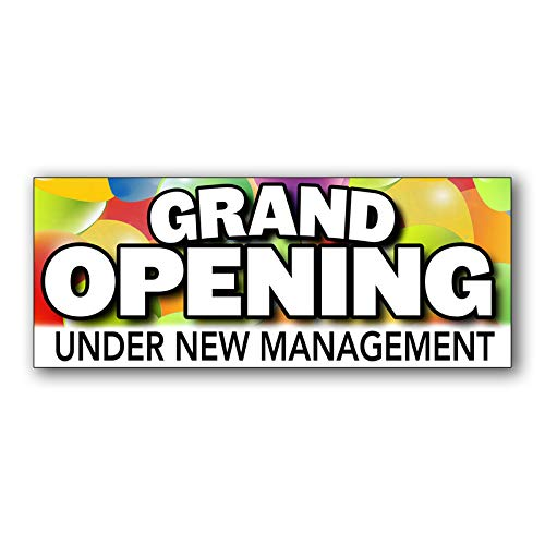 Grand Opening Under New Management Vinyl Banner 5 Feet Wide by 2 Feet ()