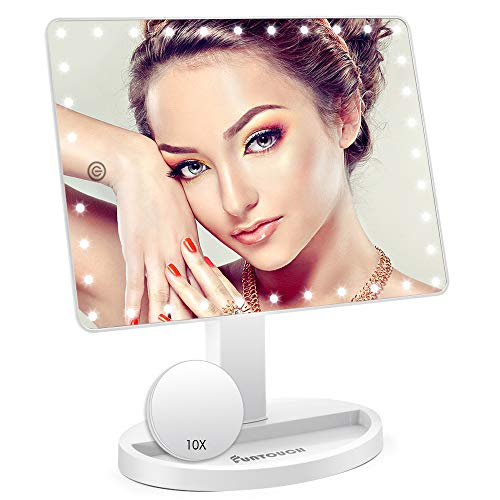Large Lighted Vanity Makeup Mirror (X-Large Model), Funtouch Light Up Mirror with -