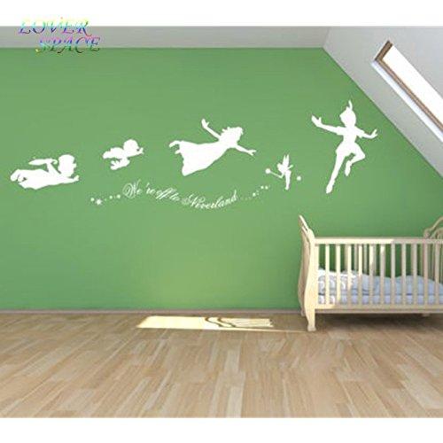 Peter Pan tinkerbell fueron a Neverland tatuajes de pared wall ...