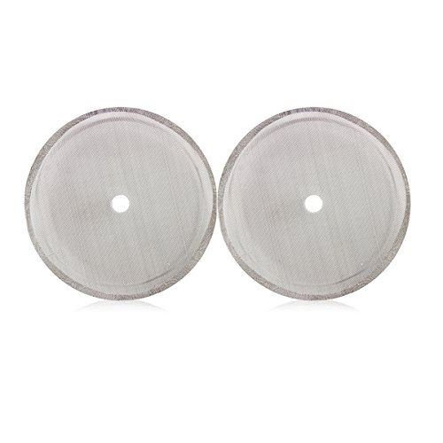 Zzanggu French Press Replacement Filter Screens(2 Pack) Stainless Steel Mesh Suitable for 34oz/8-Cup Coffee Presses Makers