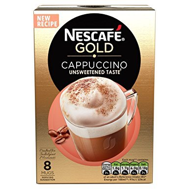 Nescafe Cappuccino Unsweetened 10 Sachets 167 G (Pack Of 6, Total 60 Sachets)