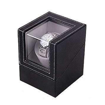 Luckyin Elegante Caja de almacenaje para Relojes con rotador ...