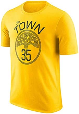 GJM Camiseta de Verano Camiseta NBA Warriors recompensa versión Manga Corta Camiseta de Curry Durant Thompson Cousins Amarillo Ropa Deportiva (Color : B, Size : S): Amazon.es: Hogar
