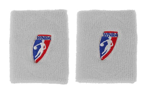 WNBA Offical Womens Basketball Double Wide Wristbands (White)
