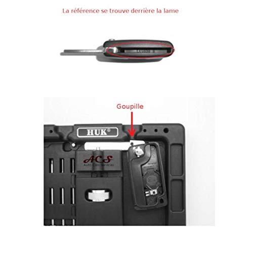 Custodia per chiave con 2 pulsanti C-itroen C2 C3 CE0523