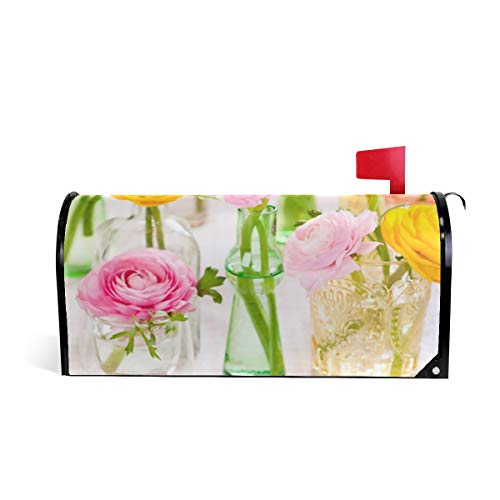 - Flower Vase Personality Magnetic Mailbox Cover Mail Box Standard Wraps Letter Post Box 20.7x18.03 inch