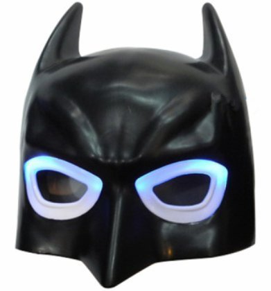 LIGHT UP BATMAN MASK - Unique Kids Dress Up Role Play Cosplay Costume Pretend Play Halloween BATMAN Universal Size Kids Light Up LED -