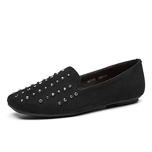 Los De Mujer Suaves Alto Chica Los Bajo GAOLIM Otoño Con Zapatos De Mujer Sock Zapatos Zapatos Zapatos De Cabeza Plana Tacón De Negro dgwgxqSC
