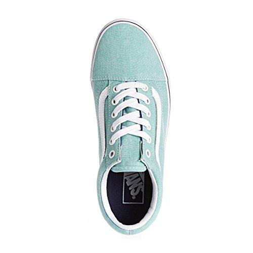 Varevogne Herre Ua Old Skool Sneaker Blau (vasket Lærred Blå Udstråling / Krone Blå) k1eIm