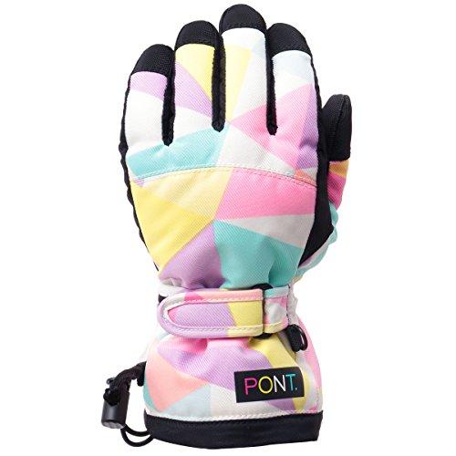 PONTAPES(ポンタペス)全10色キッズスノーボードグローブ手袋中綿入りPJR-98D-503(GEO_01MUL)150cmサイズスキーグローブてぶくろ手ぶくろおしゃれ子供用こども用スノボーグローブスノーグローブジュニア男の子用女の子用